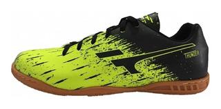 Tenis Futsal Indoor Finta Thunder - Amarelo Neon - Original