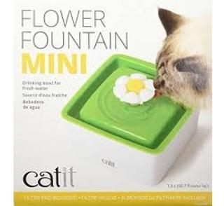 Bebedero Catit Mini Flor 1,5 L Fuente Para Gatos+ciao Grille