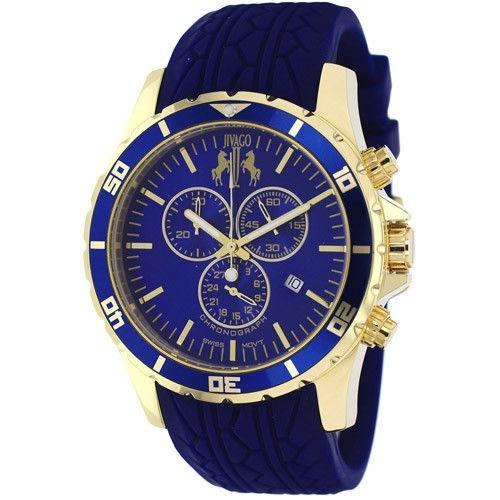 Reloj Jivago Ultimate Silicon Azul Cuarzo 100m Hombre Jv0123