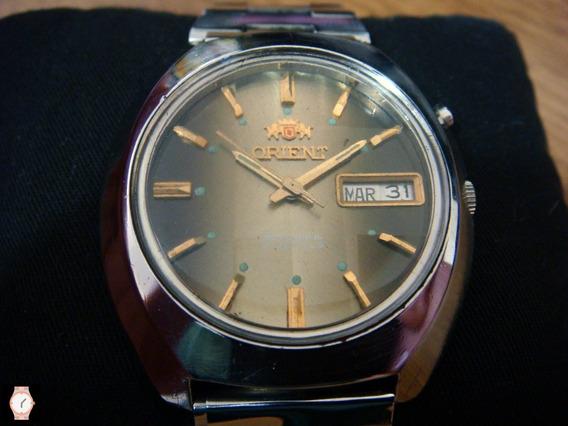 Bonito Reloj Orient Automatico Colección 70s Dial Café-oro