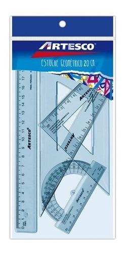 Imagen 1 de 1 de Juego De Geometría | 20 Cm | Artesco