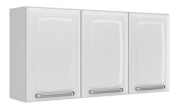Armário De Cozinha Aéreo 3 Portas Luce Branco - Itatiaia