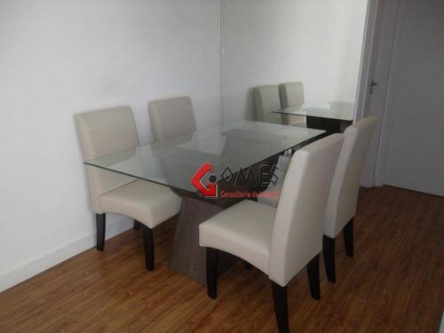 Apartamento  Residencial À Venda, Bairro Jardim, Santo André. - Ap1224