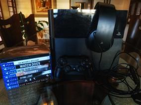 Ps4 Slim 500gb + Headset Original Ps4 + 11 Jogos Originais