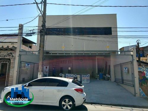 Salão Para Alugar, 150 M² Por R$ 6.000/mês - Jardim Tamassia - Guarulhos/sp - Sl0287