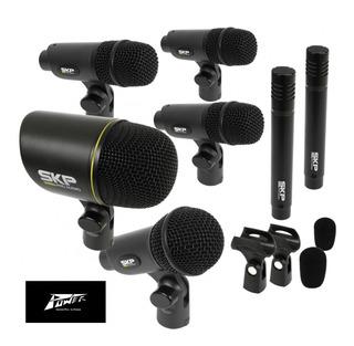 Set De Microfonos Skp Dms7 Profesional Para Bateria X 7 Unid