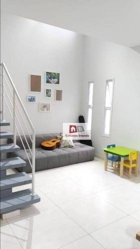 Casa Com 3 Dormitórios À Venda, 85 M² Por R$ 430.000,00 - Paisagem Renoir - Cotia/sp - Ca0251