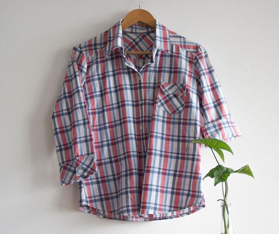 Camisa Cuadrillé | Talle Único | Manga 3/4