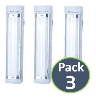 Pack 3 Lamparas Foco Linterna Emergencia Led Recargable