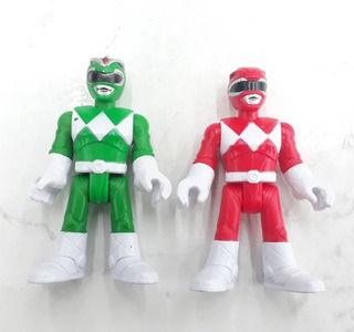 Lote Power Rangers Red Green Imaginext Fisher Price Rosario