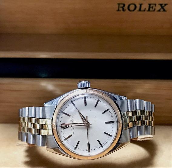 Rolex Oyster Perpetual Aço E Ouro , Ref 6549 , Raro!