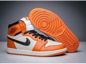 Tenis Nike Air Jordan 1 Retro Laranja Branco Original