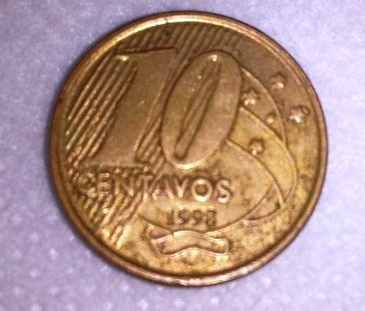 Moneda De Brasil 10 Centavos De 1998