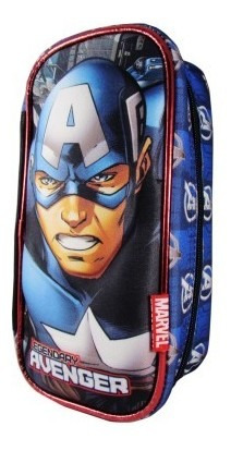 Cartuchera Rectangular 3d Capitan America