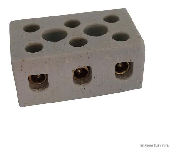 Conector Tripolar De Porcelana 25a 10mm A.santos A.santos