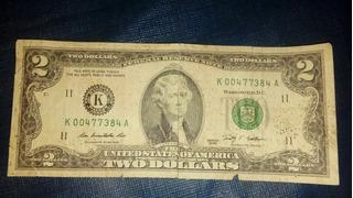 Billete De 2 Dolares Serie 2009