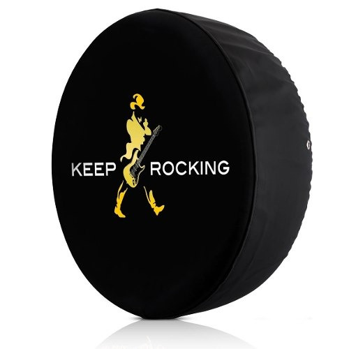 Capa De Estepe Keep Rocking Estampado