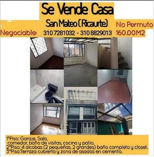 Casa En Calle Ciega,3 Pisos,negociable!