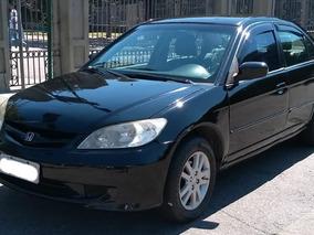 Honda Civic 1.7 Lx 4p 2005/2006 Completo Couro Gas/gnv