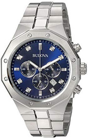 Relógio Bulova Masculino Diamante 96d138