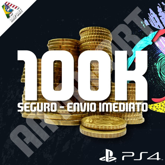 100k Fifa Coins Ultimate Team 20 (ps4)