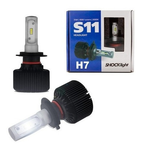 Lâmpada Led Ultra H7 6k 12v 35w 8000lm S11 - Shocklight