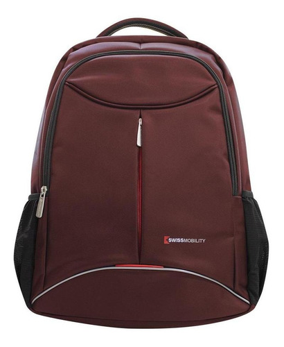 Imagen 1 de 4 de Mochila Backpack Swissmobility P/laptop 17 Tig-117 Roja