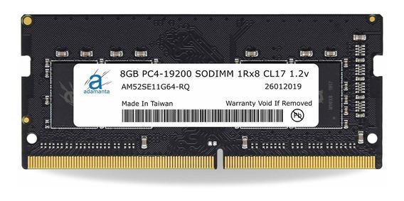Memoria Ram 8gb Adamanta (1x8gb) Upgrade Compatible Para Hp 14 Ddr4 2400mhz Pc4-19200 Sodimm 1rx8 Cl17 1.2v Dram
