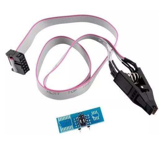 Alicate Pinça Clip Adaptador Soic8 P/gravador Eprom Bios