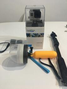 Gopro Hero 3 White Edition + 16gb + Bastão De Selfie + Dome