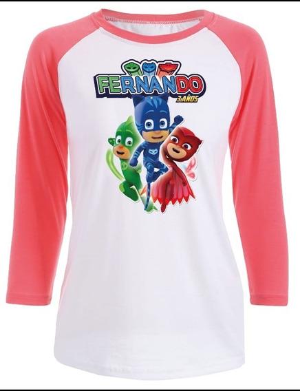 Playera Pj Mask ( Héroes En Pijama) Para Toda La Familia