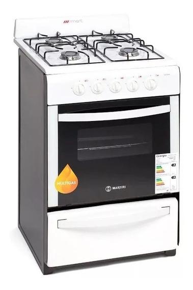 Cocina Martiri White 51cm Gas Natural