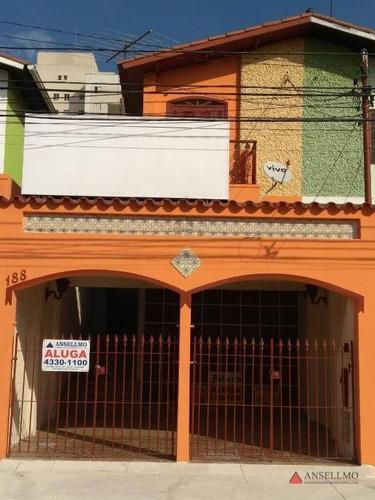 Sobrado Com 2 Dormitórios Para Alugar, 160 M² Por R$ 3.900,00/mês - Centro - São Bernardo Do Campo/sp - So0017