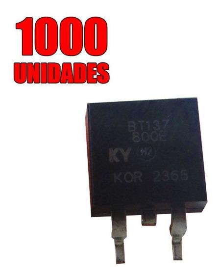 1000x Transistor - Triac Montado - Bt137-800e To-263 - Smd