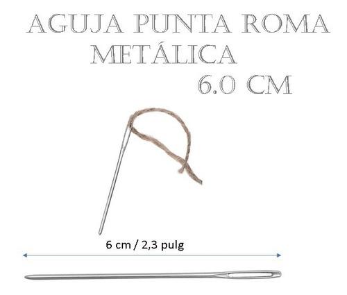 Aguja Lanera Punta De Roma Metálica 6.0 Cm