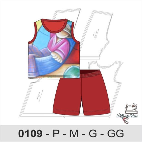 Molde Digital Pijama Infantil Bebê De Simples Modelagem