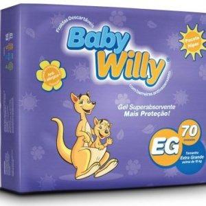 70 Fraldas Baby Willy Pacote Hiper Tamanho Xg