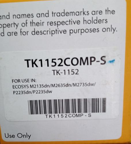 Imagen 1 de 2 de Tóner León Tk-1152 Negro - Kyocera® M2635   Genérico Ecosys