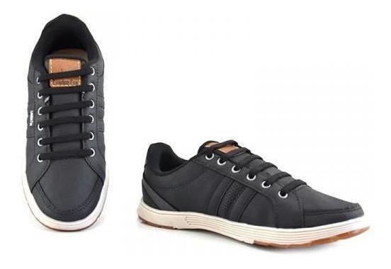 Sapato Tênis Masculino Confortável London Fox Preto