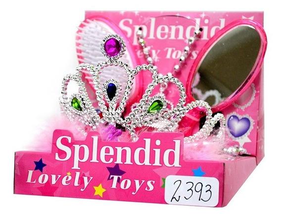 Coronas Princesas Niñas Vincha + Accesorios Juguete