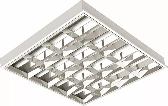 Luminarias Calha 62x62 Embutir Aletada Com Lampadas