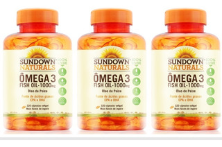Ômega 3 Sundown Importado Fish Oil Livre De Metais Kit 960 C