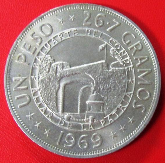 República Dominicana Moneda 1 Peso 1969 125 Aniv Republica