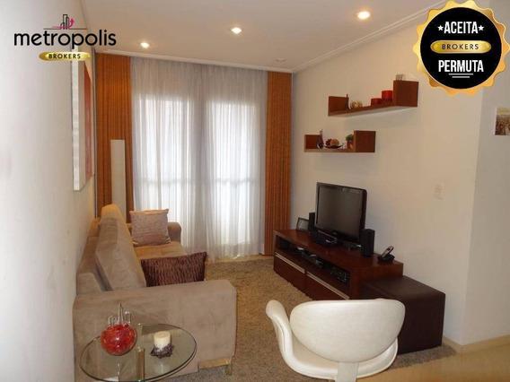 Apartamento Com 2 Dormitórios À Venda, 70 M² Por R$ 400.000,00 - Cerâmica - São Caetano Do Sul/sp - Ap0550