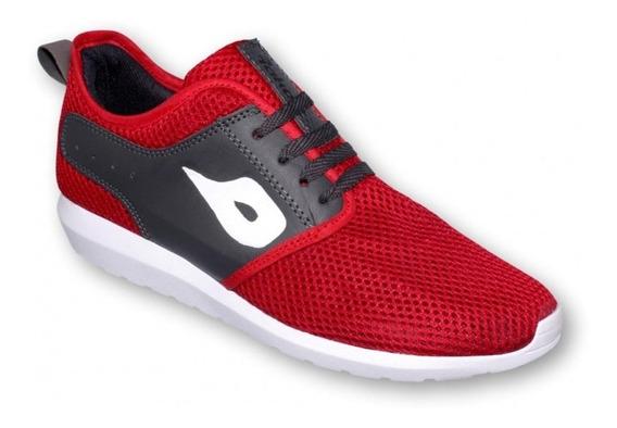 Tenis De Moda Textil Rojo Oxford-mod.0801ra5118154