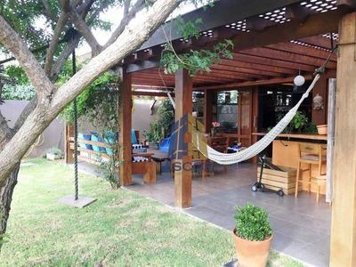 Encantadora Casa Em Condomínio Fechado De Alto Padrão, Cercado De Verde E Muito Seguro. Ca0256 - Ca0256
