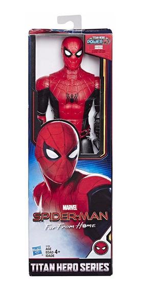 Boneco Homem Aranha Longe De Casa 30cm Titan Hero- Hasbro