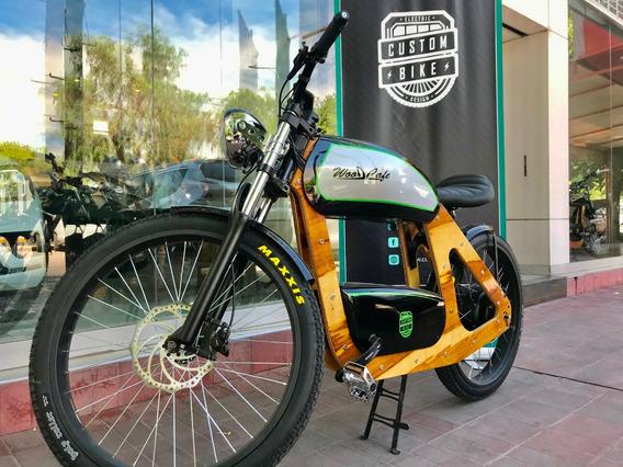 Wood Cafe 1500w 48v Custom Bike