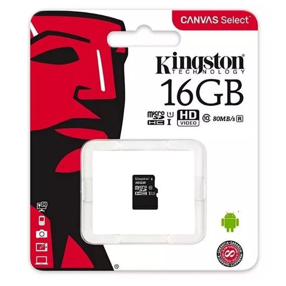 Cartão De Memória Kingston Micro Sd 16gb - Preto