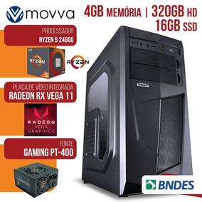 Pc Gamer Amd Ryzen 5 2400g 4gb 320gb Ssd 16gb Mvx5a320320164